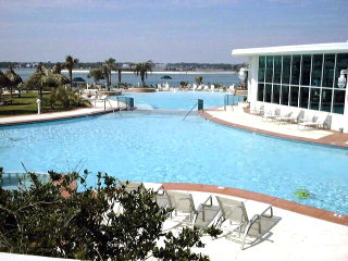 Part of Caribe's outdoor pools