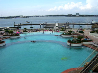 Caribe's outdoor pools