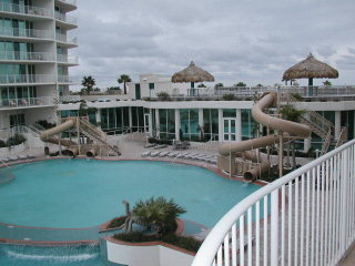 Caribe's pool and waterslide